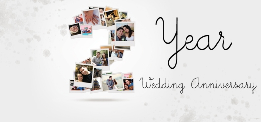 2 year wedding facebook header